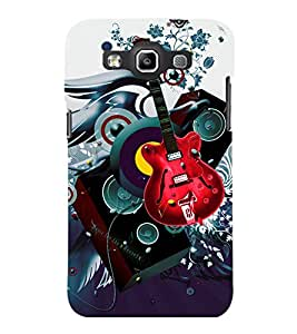 printtech Guitar Music Abstract Back Case Cover for Samsung Galaxy Quattro i8552::Samsung Galaxy Quattro Win i8552