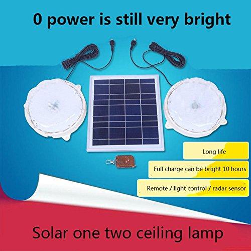 Dach Cap (Q&D Solarlampen Home Outdoor One Drop Zwei Deckenleuchte Im Freien Wasserdichte Hof Korridor Licht Garten Tür Licht , 8w/12 (2 caps) [light] section)