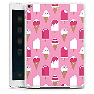 Apple iPad Air 2 Hülle Case Cover Hard Case white - JADE rosa