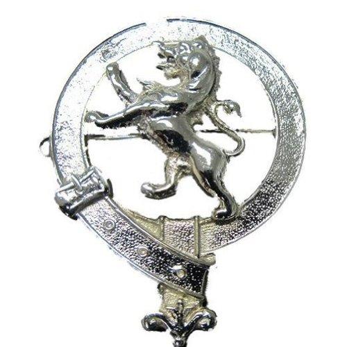 Tartanista Emblem für Glengarry/Balmoral Mütze - Rund - Schottischer Löwe - Chrom
