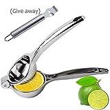 Lemon Lime Squeezer, Fayogoo presse-agrumes manuel Extracteur, Citron vert Presse Centrifugeuse avec poignées Zesteur avec canal couteau inoxydable