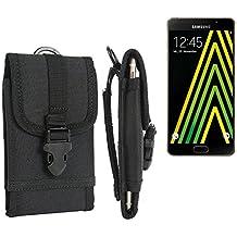 bolsa del cinturón / funda para Samsung Galaxy A5 (2016), negro | caja del teléfono cubierta protectora bolso - K-S-Trade (TM)