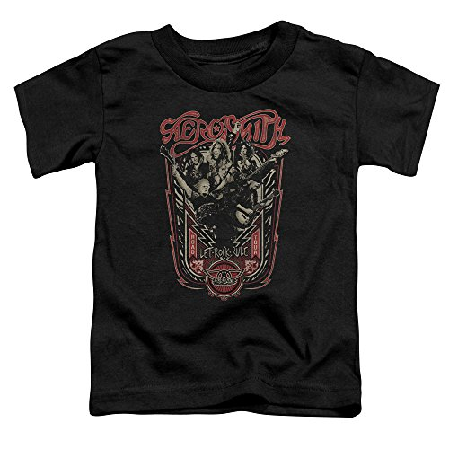 Aerosmith-Regola i più piccoli Let Rock t-shirt Black 3T