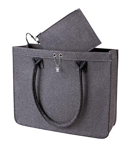 HALFAR HF7556 City Shopper Modernclassic Freizeittaschen Einkaufstaschen Tasche anthracite