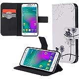 ECENCE Samsung Galaxy A3 A300FU Cartera Flip Case Wallet Cover bolsa funda diente de león + bicicleta 32010107