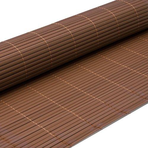 eyepower Canniccio di PVC 90x500cm   Incannucciata di Plastica imitazione canne di bambù   rotolo recinto decorativo   schermo divisorio protettivo paravento privacy ombreggiatura frangivista recinzione giardino   Marrone