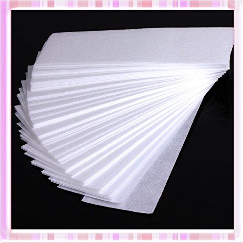 tfrdertuuigf Haarentfernung Faserstoff Epilierer Bein Haarentfernung Wachs-Streifen papier (Tuch-wachs-streifen)