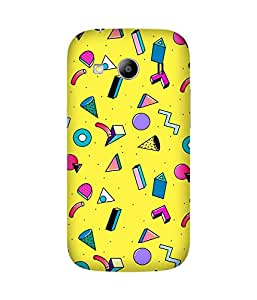 Yellow Graphic Back Cover Case for Samsung Galaxy Ace 4