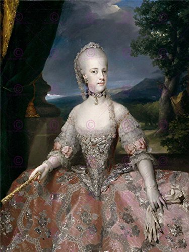 PAINTING PORTRAIT MENGS MARIA CAROLINA QUEEN NAPLES LARGE PRINT POSTER LF1621