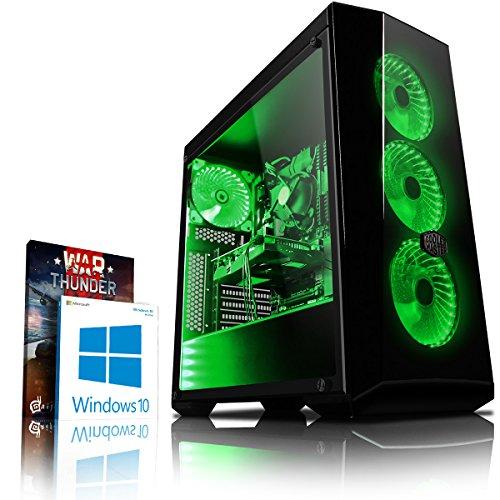 Vibox Genesis GR350-6 Dekstop PC da Gaming, Processore Ryzen 3-1300X, HDD da 1000 GB, RAM da 8 GB, Nvidia Geforce GTX 1050, Verde