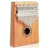 Gecko en acajou Tone Bois 17touches Kalimba, professionnel de haute qualité doigt pouce Piano Instrument musical Cadeau