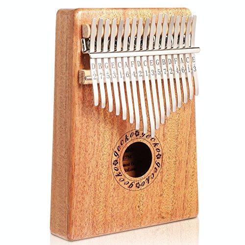 Gecko legno di mogano tono 17chiavi Kalimba finger, alta qualità professionale pianoforte strumento musicale regalo