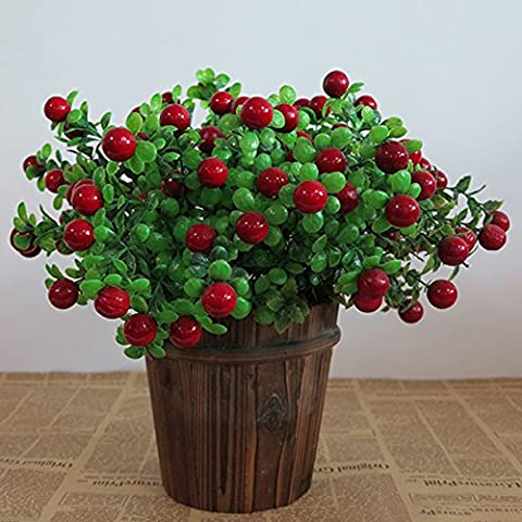 TSACTE Artificial Tree Flower Plant Home Kitchen Office Tabletop Greenery
