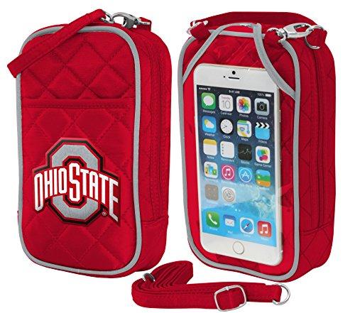 Charm14NCAA Umhängetasche Quilt-Embroidered Logo-Fits Alle Handys von, Damen, Ohio State Buckeyers, Einheitsgröße (Damen Ohio State Hat)