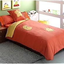 Funda nórdica cama 105 cm. + Funda para Cojín + Sábana bajera ajust.+ Funda de almohada cama