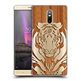 Head Case Designs Tiger Animal Wood Prints Ruckseite Hülle