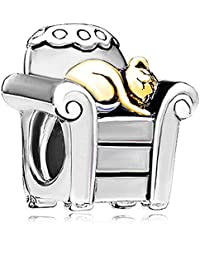 Pugster Cat Charms Sale Cheap New Beads fit Pandora Chamilia Charm Bracelets Gifts
