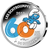TGBCH die Schlümpfe 60 Jahre Belgien 5 Euro Bemalt Silber Beweis Münze Mni