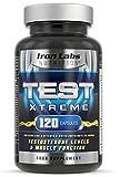 Muskelaufbaumittel - Test Xtreme: Testosteron Booster - Muskelwachstum & Stärke (120 Kapseln)