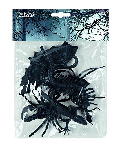 Schaurige Tiere Halloween Partydeko-Set 6-teilig schwarz 10x6cm Einheitsgröße