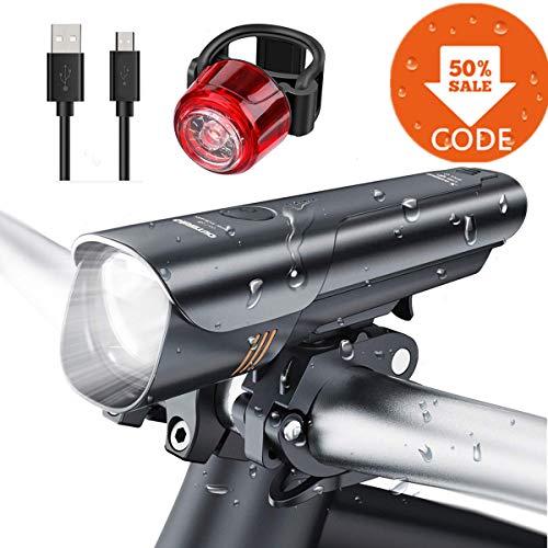 Set di luci per Bicicletta LED 600 Lumen Ricaricabile USB
