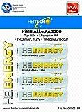 Heitech 04002183 NiMH-Akku AA 2500 Silber