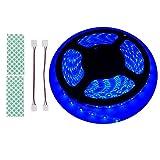 BIHRTC 12V DC IP65 Wasserfest Blau 5630 SMD 5M/16.4ft 300 LED Streifen Lichtleiste Lichtband led band für Küchenschrank Schlafzimmer Startseite dekorative Beleuchtung Innenraum [Energieklasse A+]