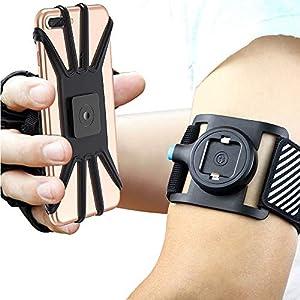 Bovon Sport Armband Abnehmbare Handytasche fürs Oberarm, Sportarmband für iPhone XS Max/XR/XS/X/8 Plus, Open Face für Touch Screen Control, Joggen Handy Armband für Galaxy Note 9/S9/S8 Plus (Schwarz)
