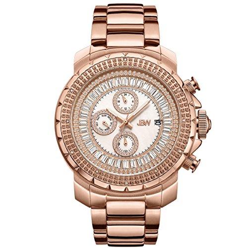 Jbw orologio da uomo con cristalli Swarovski oro rosa diamante