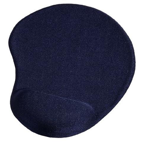 Hama Ergonomic Bleu - tapis de souris (Monotone, Bleu)