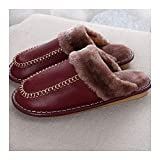 GAOHUI GAOHUI Slippers Männer Frauen Thermisch Anti Slip Verschleißfeste Wasserdicht Nähen Home Hausschuhe Winter Innen- Paar Schuhe
