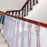 liltourist Baby Balkonnetz, Treppengeländer Kinder Sicherheitsnetz für Innen- und Außentreppen, Balkon oder Patios, weiss, 2 Meter