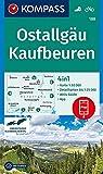 KOMPASS Wanderkarte Ostallgäu, Kaufbeuren: 4in1 Wanderkarte 1:50000 mit Aktiv Guide und Detailkarten inklusive Karte zur offline Verwendung in der ... (KOMPASS-Wanderkarten, Band 188) -