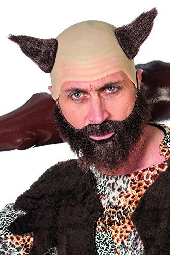 Kostüm Glatze Bart - Jannes Deluxe 8850 Glatze und Bart Kostüm Verkleidung Fastnacht Party Karneval Fasching