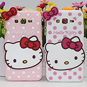 Cute Hello Kitty Silicone With Pendant Back Case Cover For Samsung Galaxy Grand Prime Sm-G530