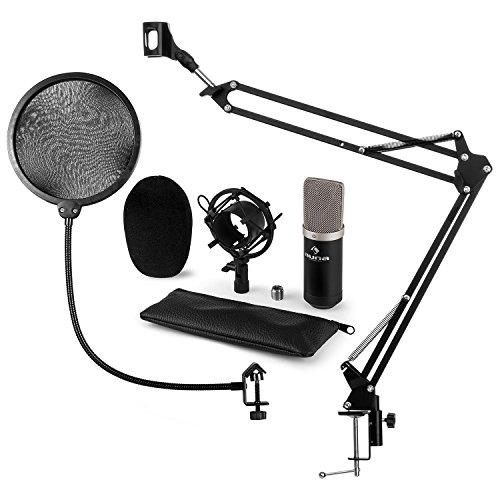 auna CM003 V5 • Set Microfono XLR • A Condensatore • Staffa Ragno • Con Braccio Mobile • Filtro POP • Schermatura Rumori • Sgancio Rapido • Plug & Play • Windows e Mac • Custodia Protettiva • Registra auna CM003 V4