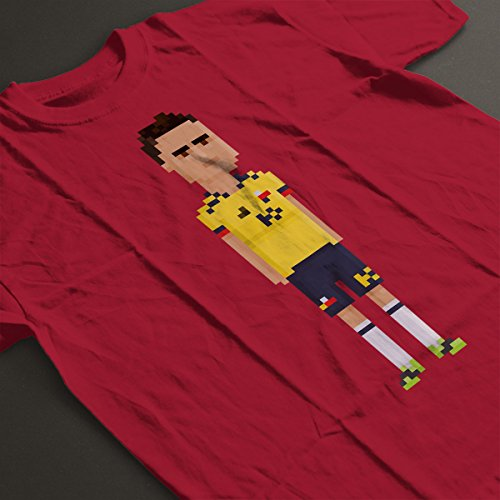 Pixel James Rodriguez Men's T-Shirt Cherry Red