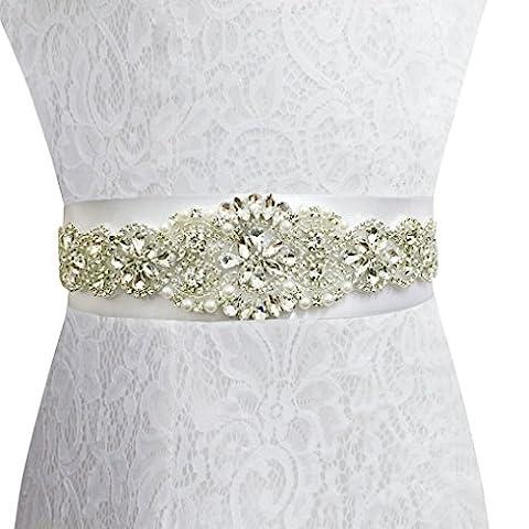ShinyBeauty Navy blue Wedding Sash Diamante Sash Belt Wedding Dress Embellished Belt RA300 (Navy