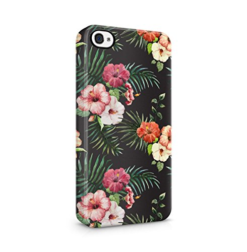 Tropical Floral Flowers Aloha Hawaii Exotic Jungle Pattern Print Apple iPhone 5C Snap-On Hard Plastic Protective Shell Case Cover Custodia Hibiscus Flowers