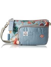 Oilily - Charm Sunflower Shoulderbag Shz 2, Shoppers y bolsos de hombro Mujer, Azul (Light Blue), 2x15x25 cm (B x H T)