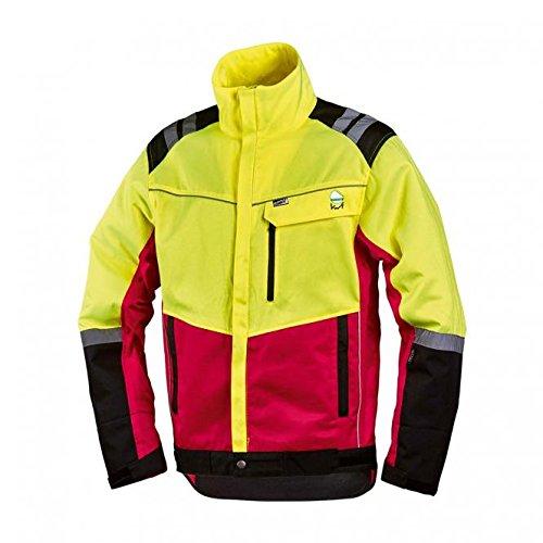 forstjacken NEU! Worky Forstschutz-Jacke Komfort, modern, rot/neongelb, mit Reflexstreifen, Gr. S - XXL (S)