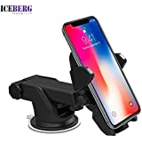ICEBERG MAKERS.IN Quick Touch One Premium 360 Adjustable Car Mount Holder For cell phones