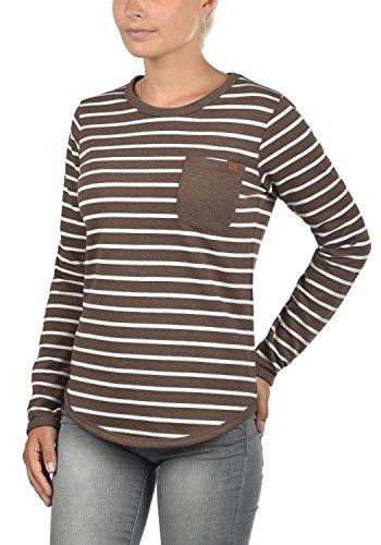 Blend She Christin Damen Sweatshirt Pullover Sweater Mit Rundhalsausschnitt Und Fleece-Innenseite, Größe:XS, Farbe:Mocca Mix (70816) - 2