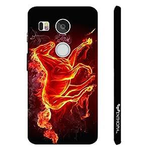 Google Nexus 5X Smoking Horse designer mobile hard shell case by Enthopia