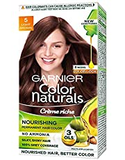 Garnier Color Naturals Crème hair color, Shade 5 Light Brown, 70ml + 60g
