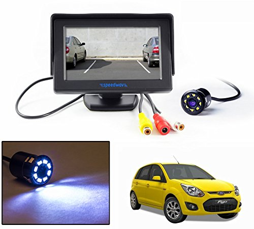 "Speedwav 4.3"" LCD TFT Monitor & LED Reverse Parking Camera-Ford Figo"