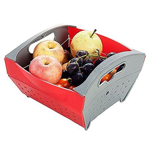 Portable cuisine Passoire Passoire et rincer Bol pliable, Creative fruits