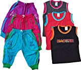 CH Fashion Boy's Cotton Capri with Rib and Sleeve T-Shirt, 3-4 Years (Multicolour, CHF0016) - Pack of 3