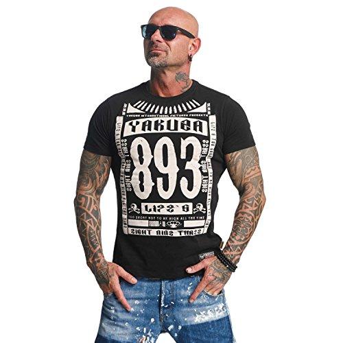 Yakuza Original Herren Life Time T-Shirt (Gewebt Fit Slim Shirt)