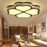 YESDA 48W Warmweiß 3000K LED Moderne Deckenleuchte Deckenlampe 4 Kleeblatt Design, Kreative Acryl Deckenleuchte Energiesparlampe für Flur Wohnzimmer Schlafzimmer Küche Büro